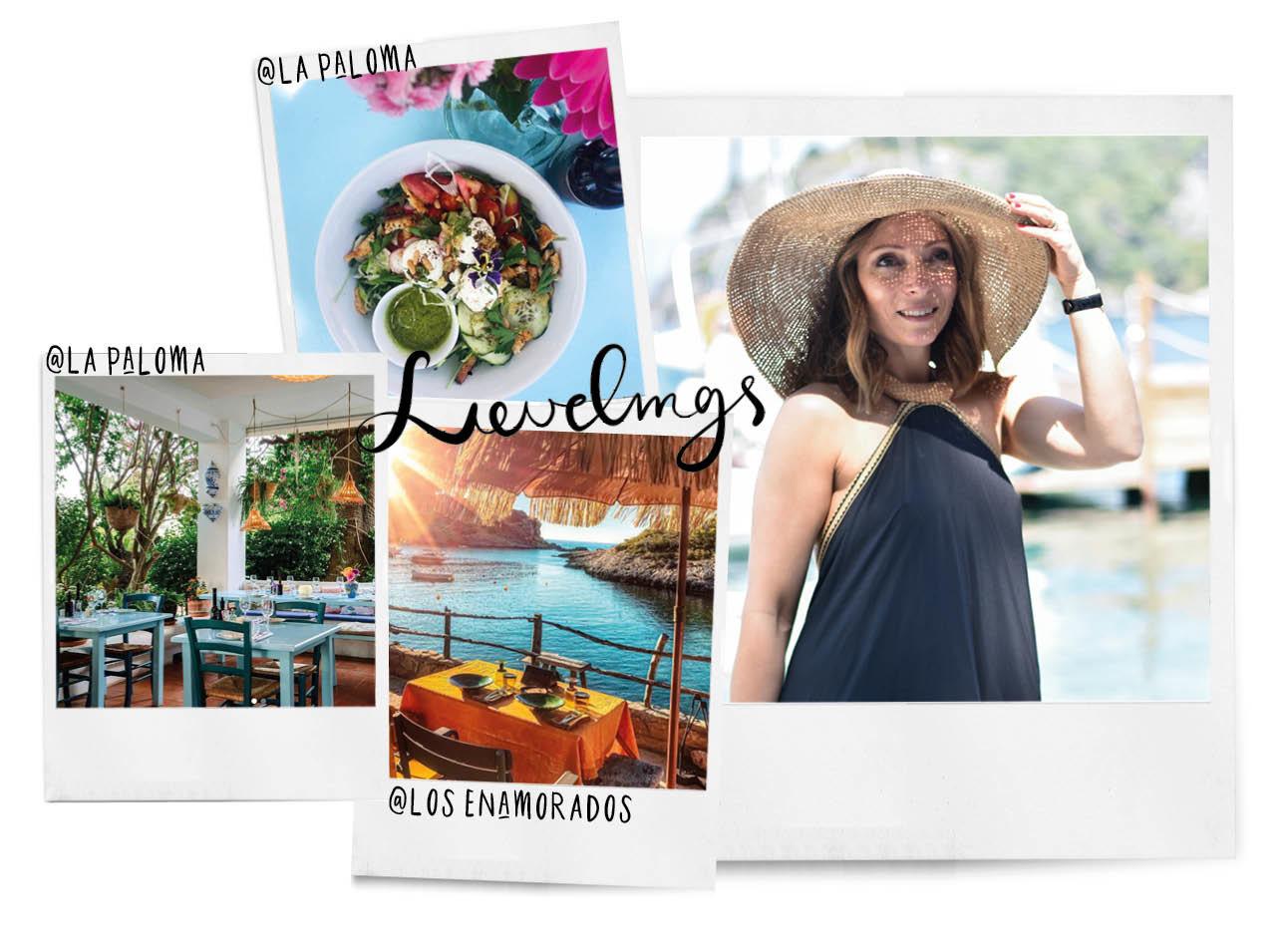 May met een grote zomerse hoed op op vakantie met ibiza adresjes