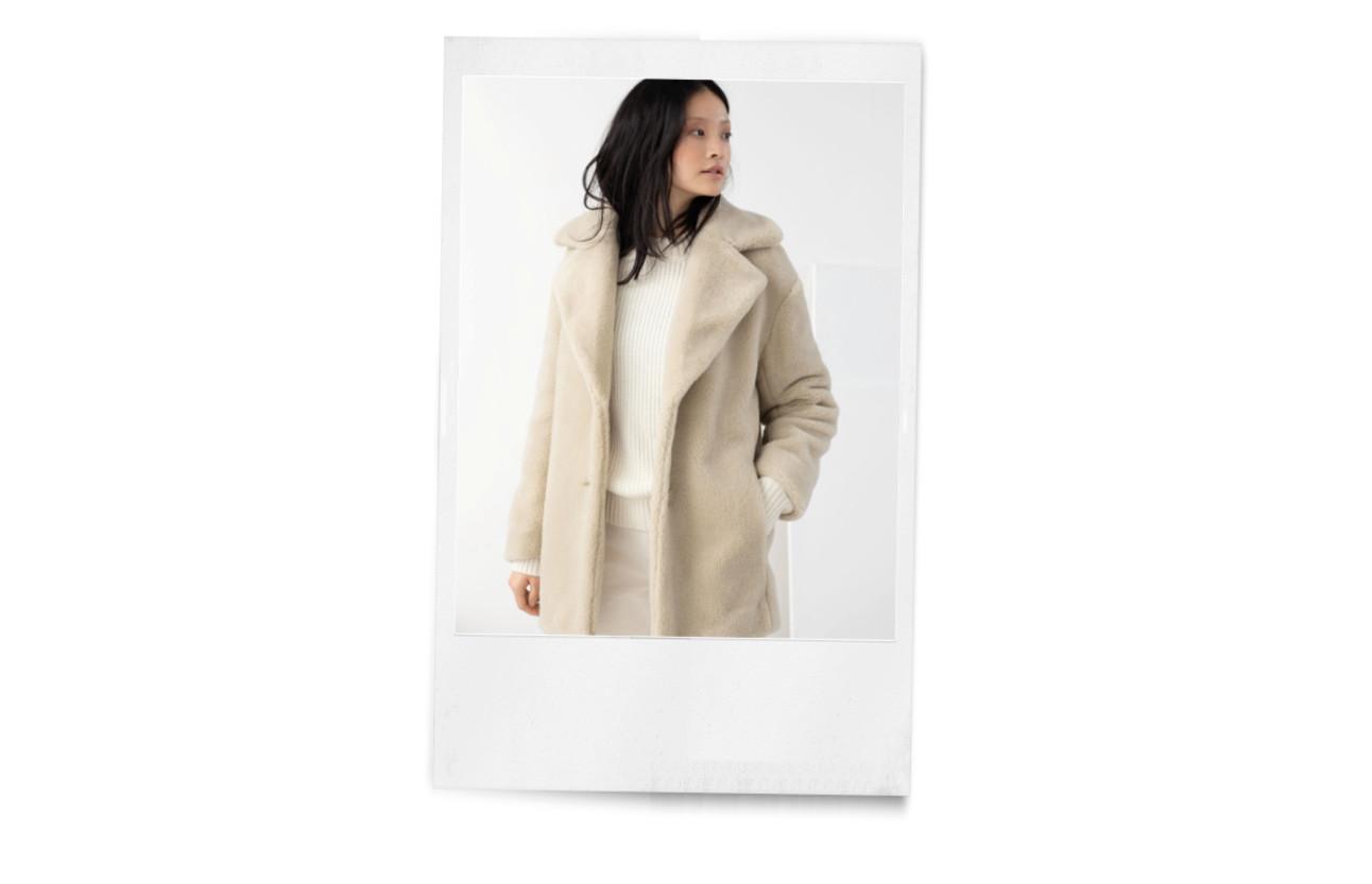 beelden van verschillende faux fur jassen