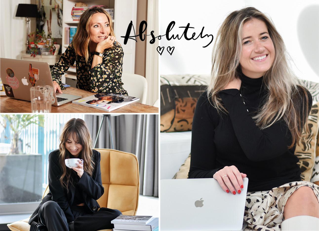 Lilian May-Britt en Tessa lachend met laptop