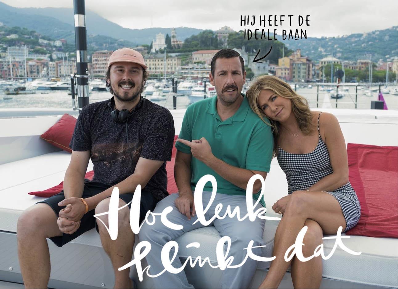 Murder mysterie jennifer aniston Adam Sandler op een boot