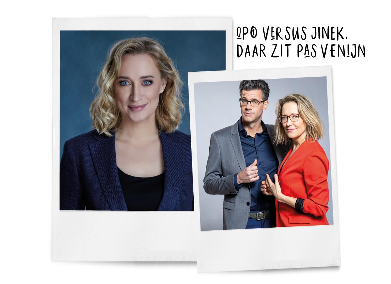 Eva Jinek en Erik Dijkstra en Willemijn Veenhoven