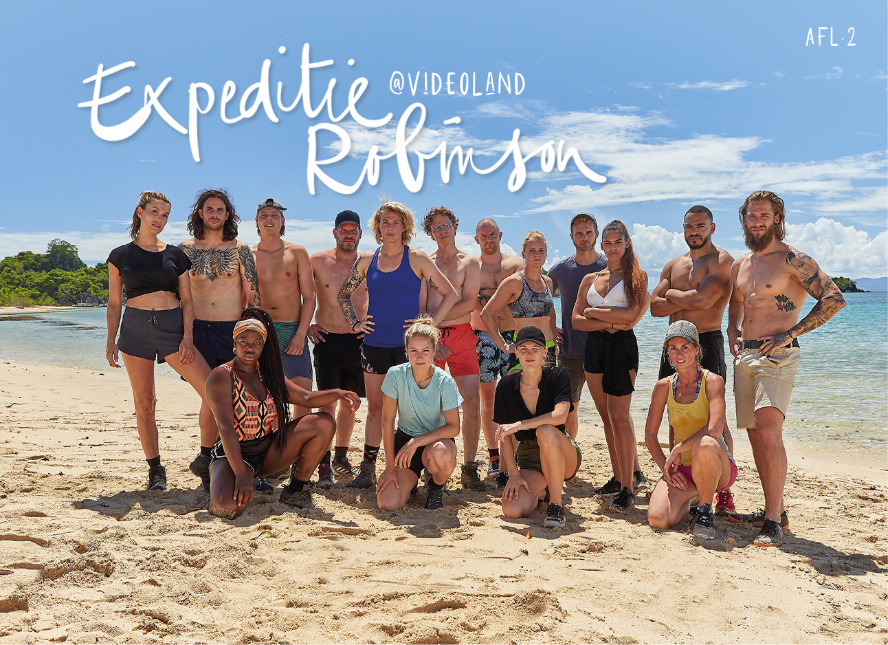 Groepsfoto expeditie robinson