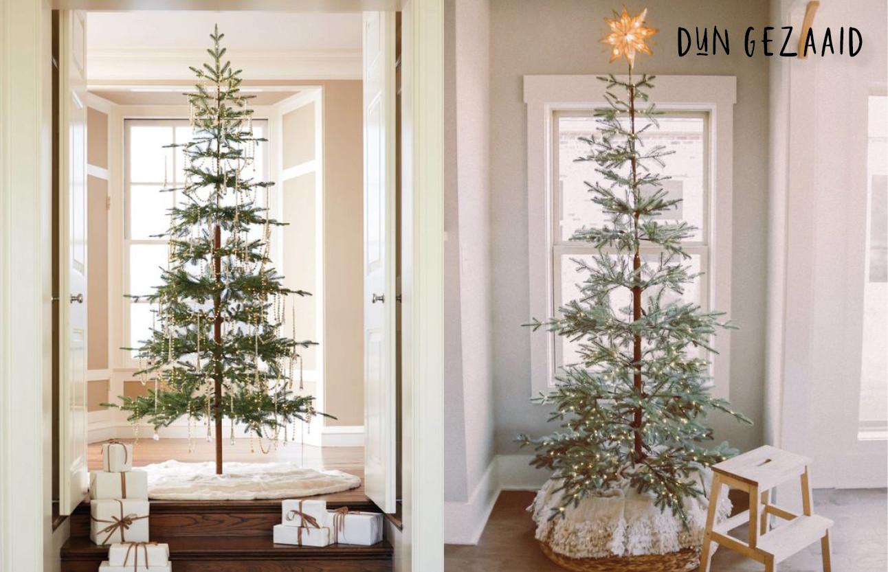 dunne hoge kerstbomen