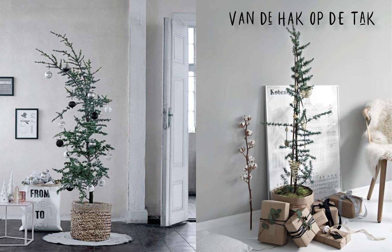 dunnne kerstbomen die weinig takjes hebben
