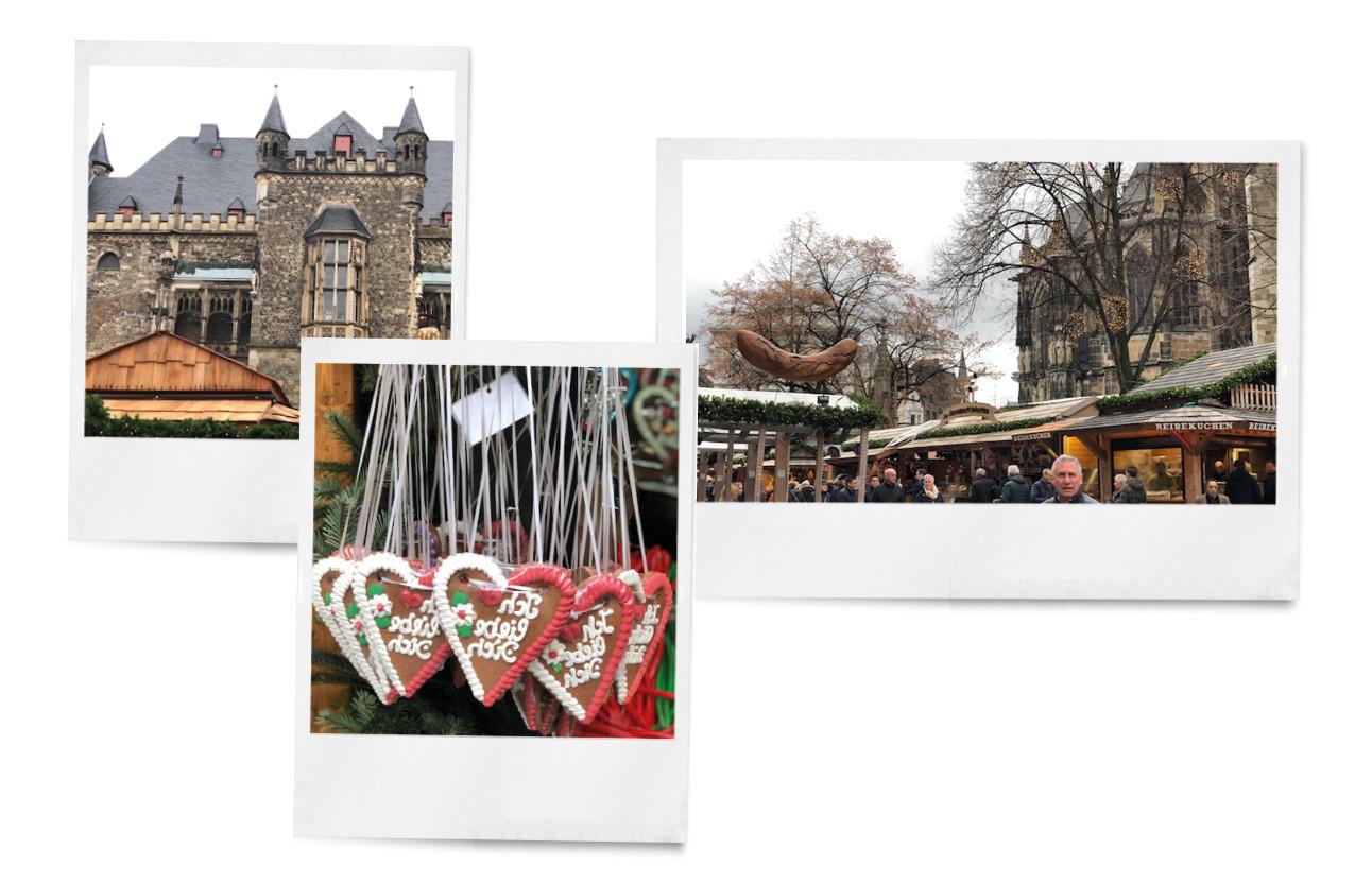 beelden van de kerstmarkt in het duitse dorpen aachen aken