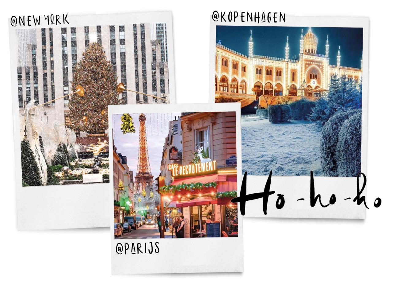 beelden van de kerstmarkt in new york