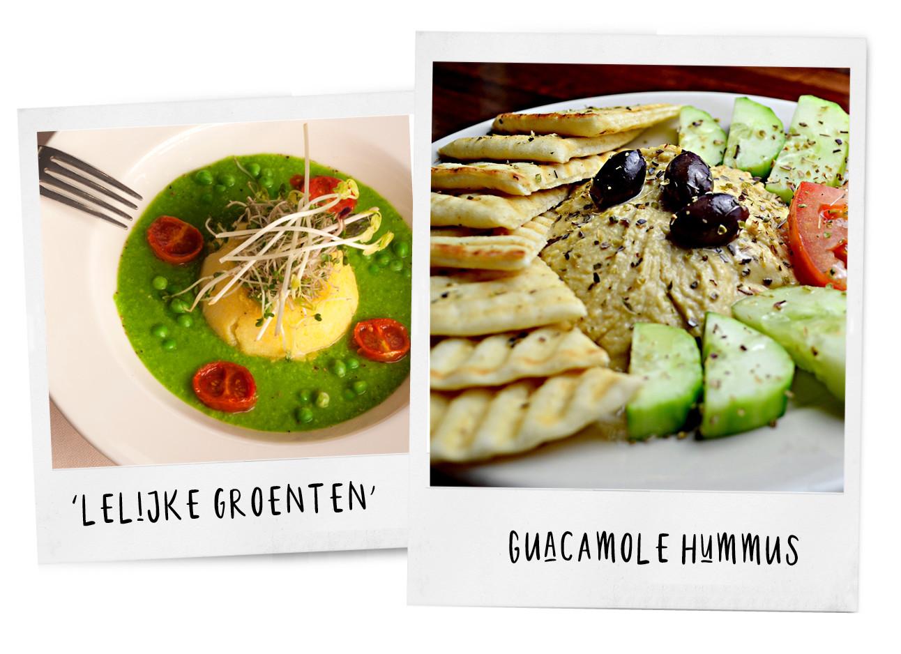 groente soepje en guacamole hummus