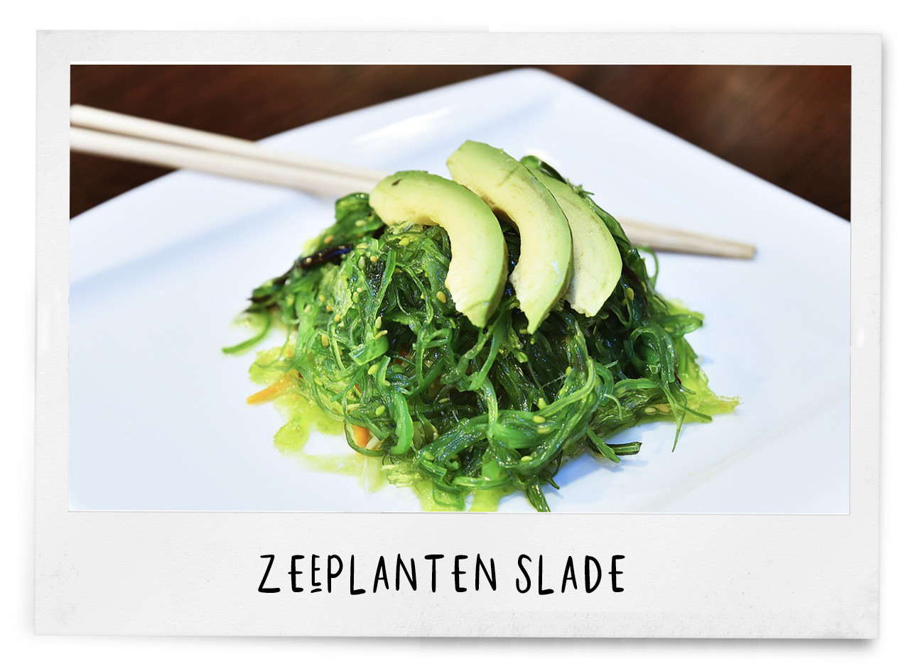 zeeplanten salade met avocado