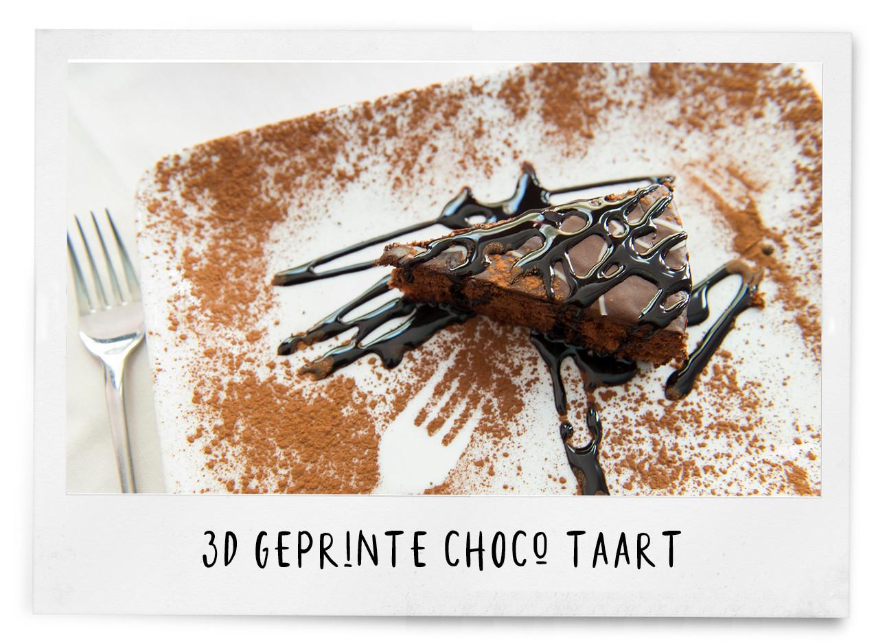 geprinte choco taart