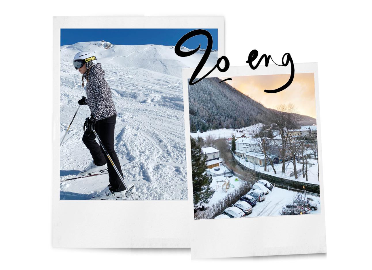 Kiki op wintersport lawine gevaar