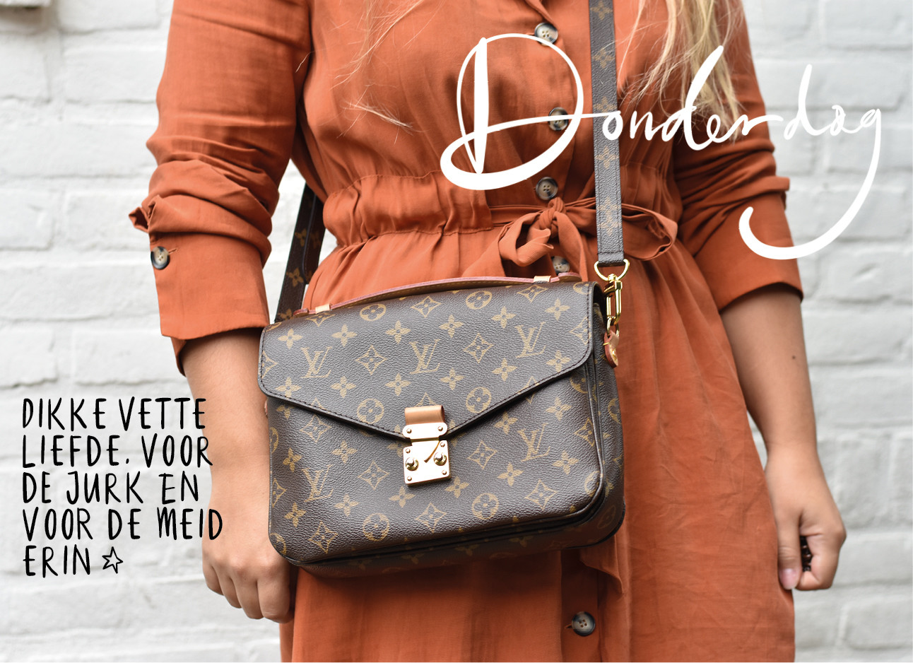 Look of the day Kiki Duren Louis Vuitton tas