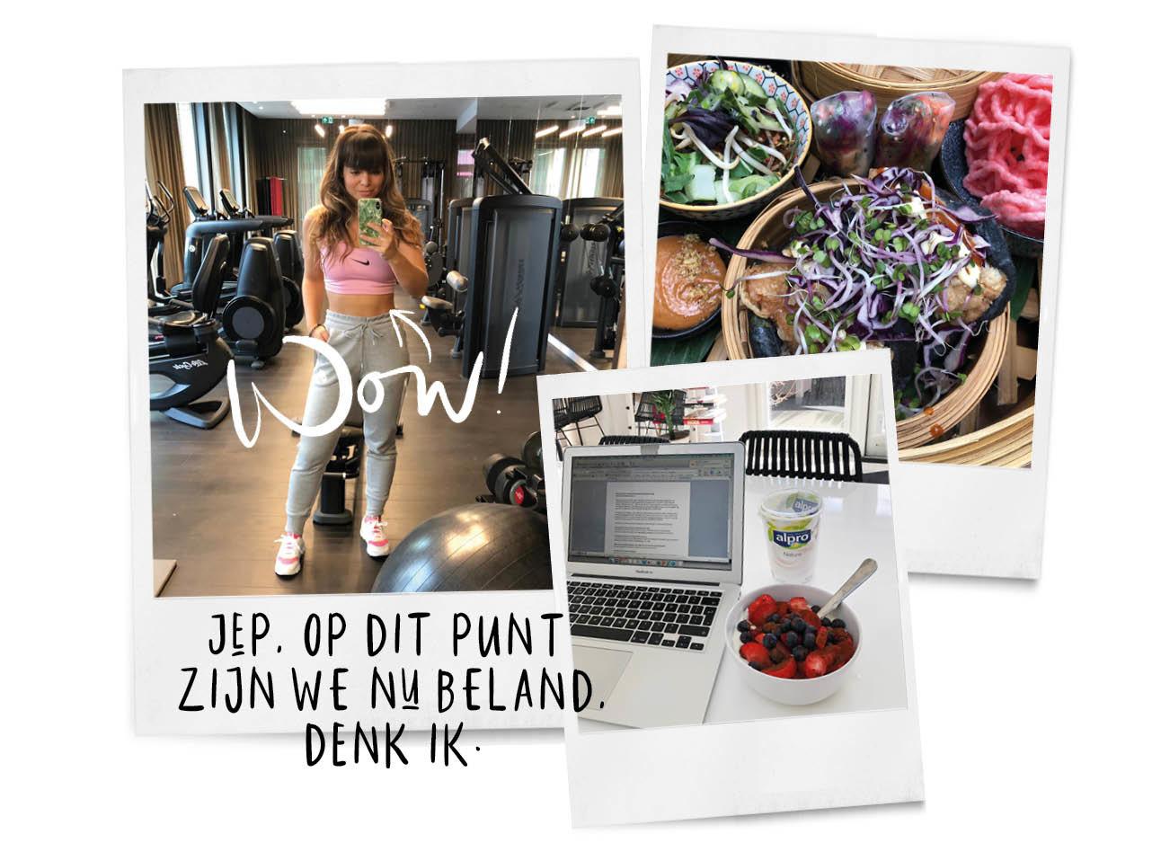Kiki's dagboek in de sportschool en voeding