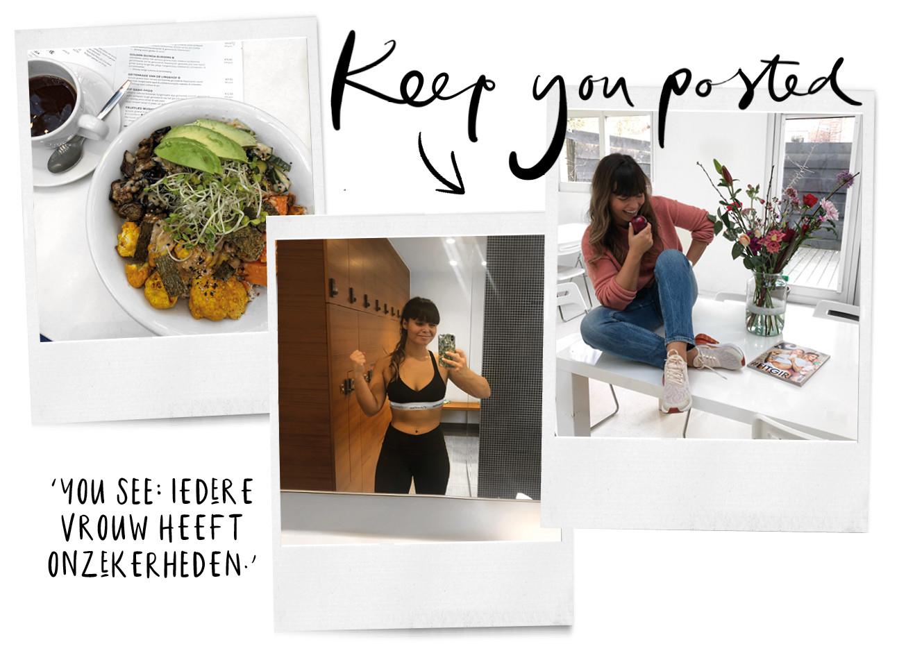 Kiki haar dieetvoedsel en Kiki in de gym