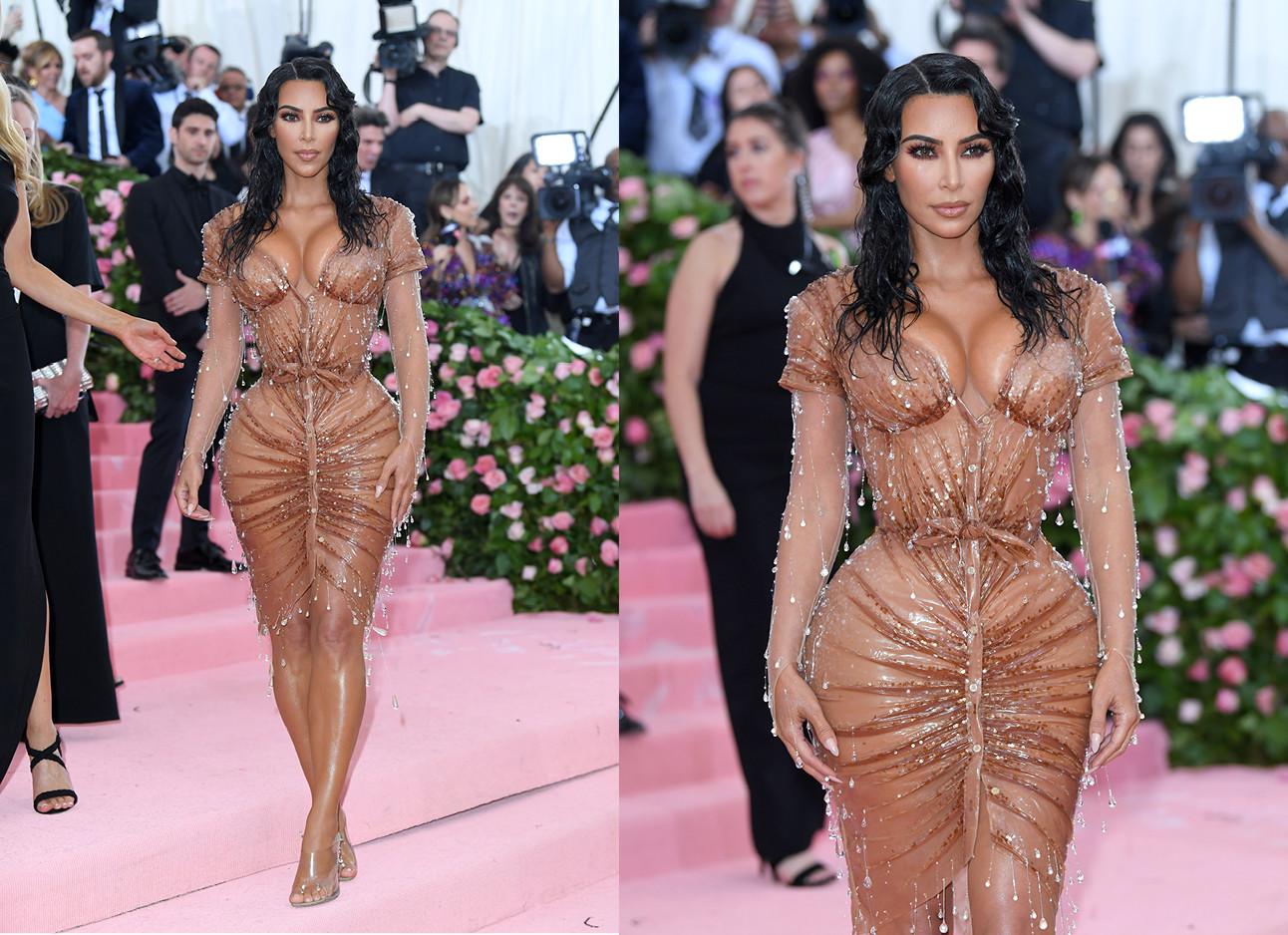 Kim kardashian op het MET gala