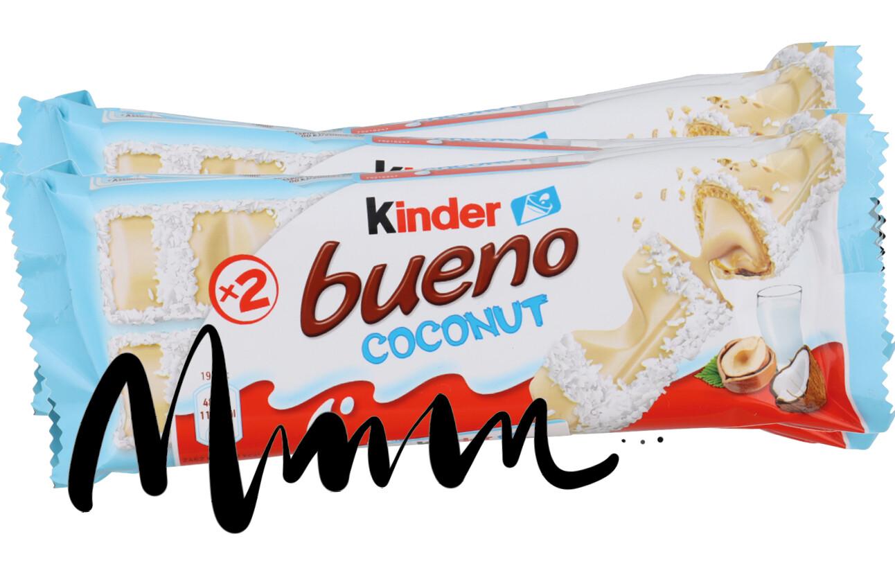 Kinder Bueno witte chocola kokos