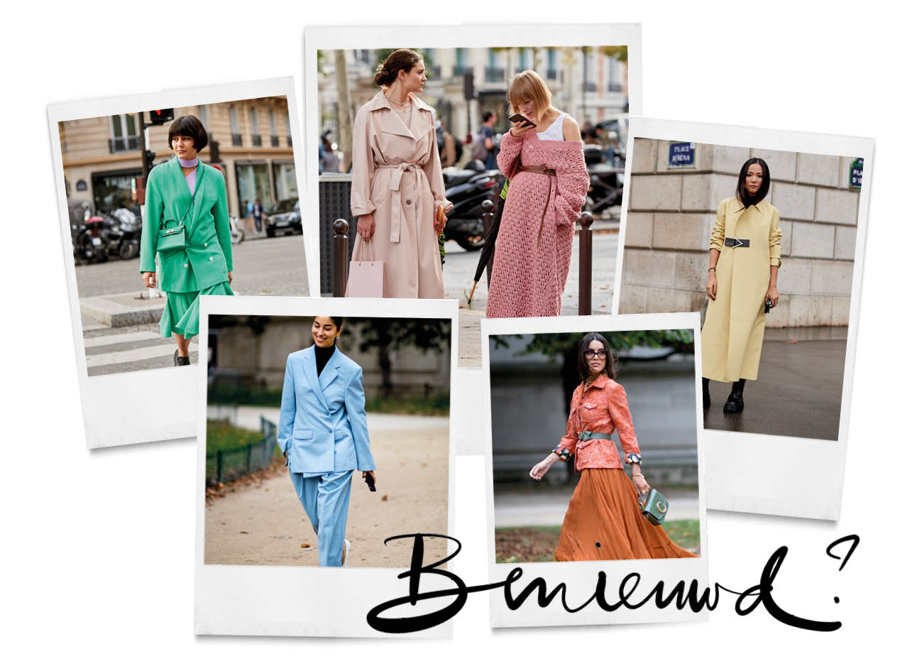 Gekleurde streetstyle outfits parijs