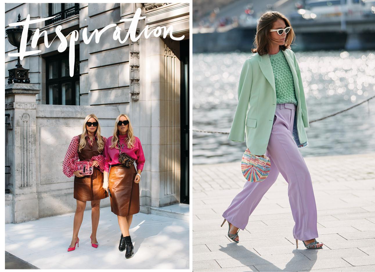 meiden die verschillende ovpvallende kleuren combinaties dragnen in hun kleding