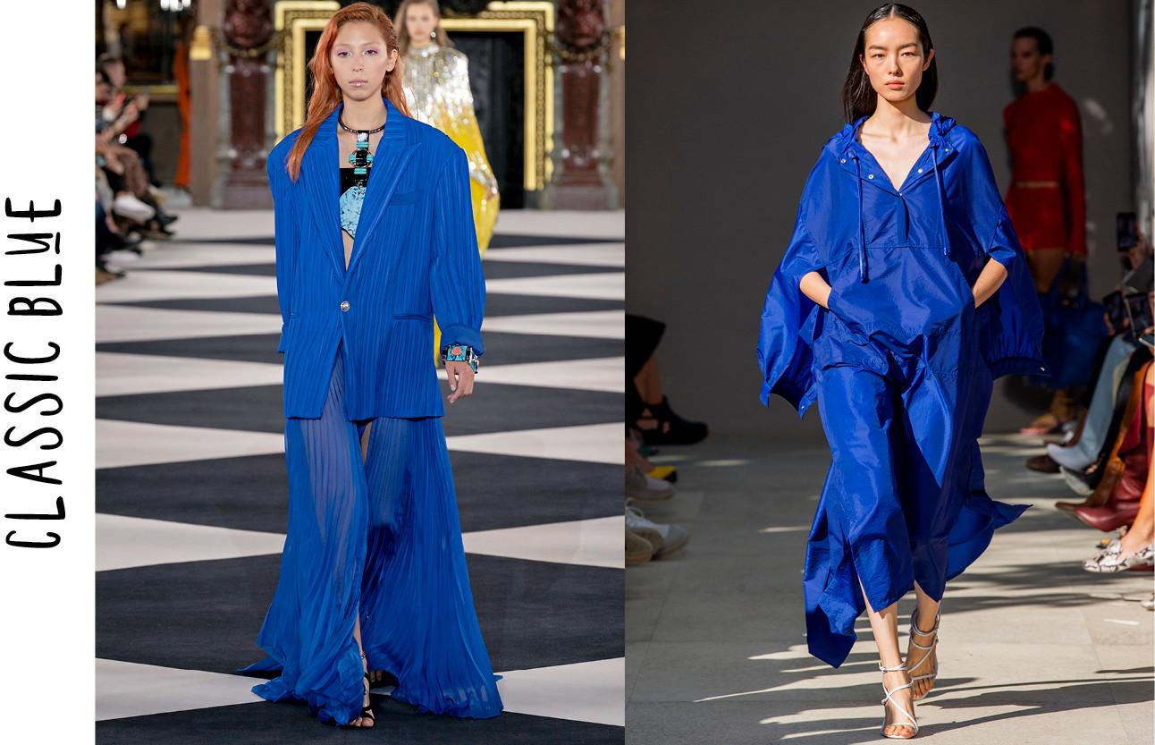 De key-colours die je richting de lente wilt shoppen blauw