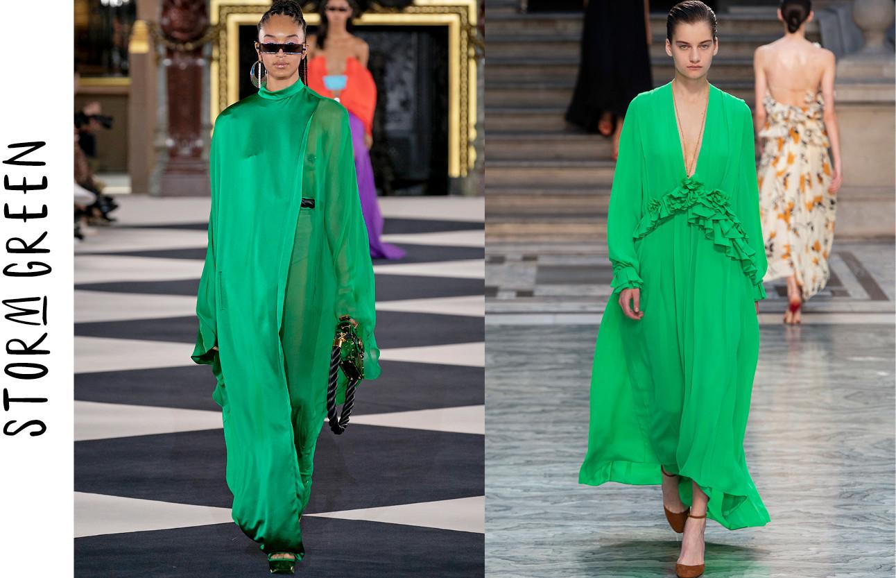 De key-colours die je richting de lente wilt shoppen groen