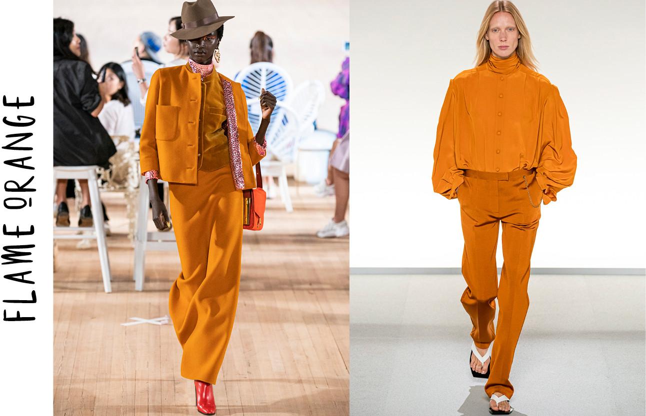 De key-colours die je richting de lente wilt shoppen oranje