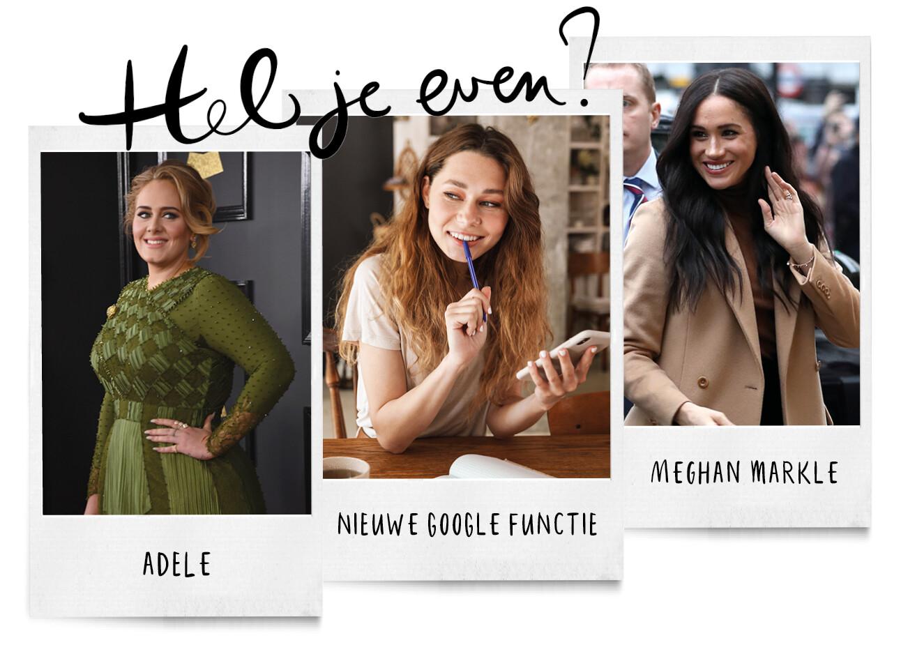 Adele, nieuwe google functie en meghan markle