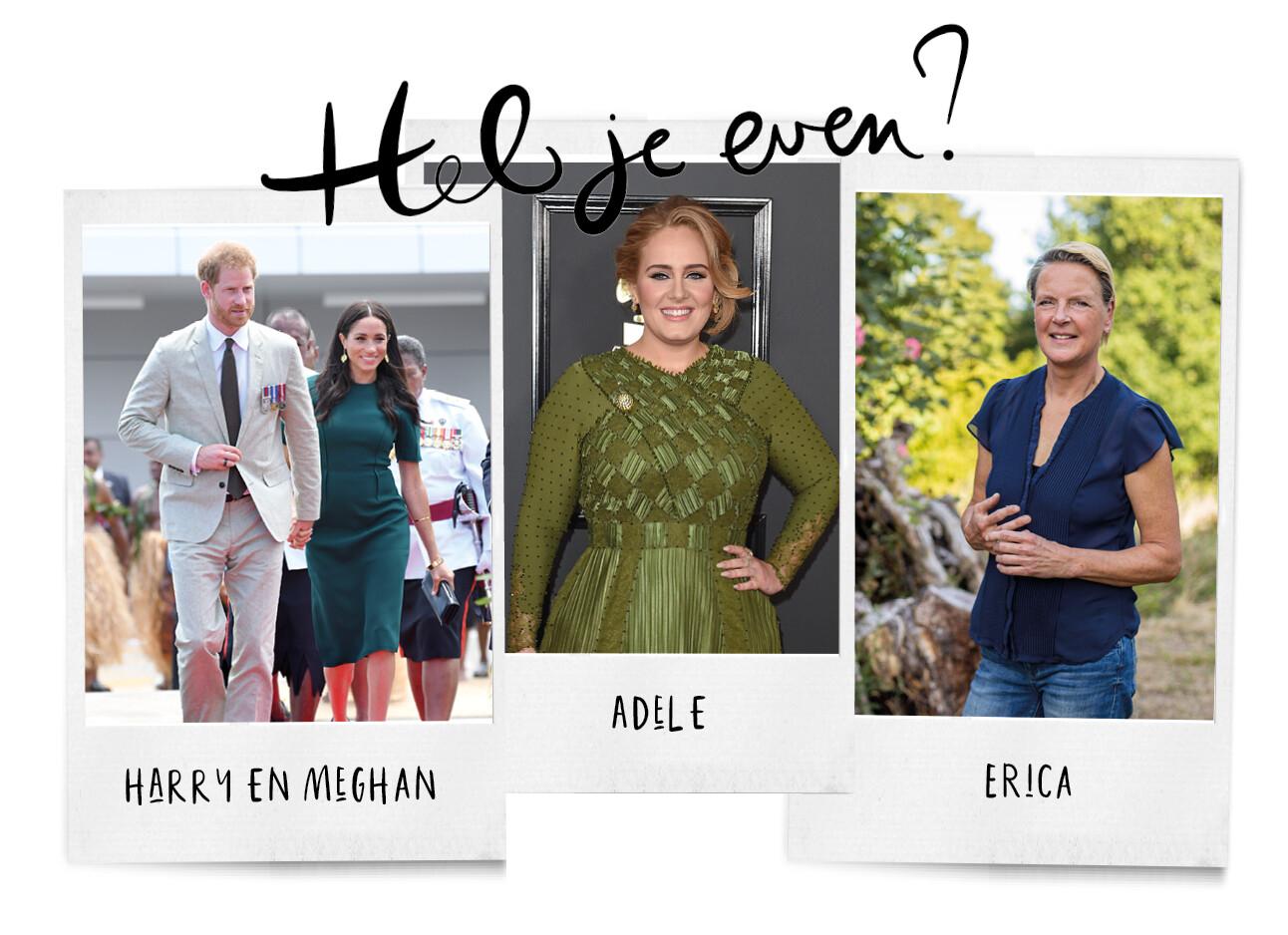 Harry en meghan, Adele en Erica meiland