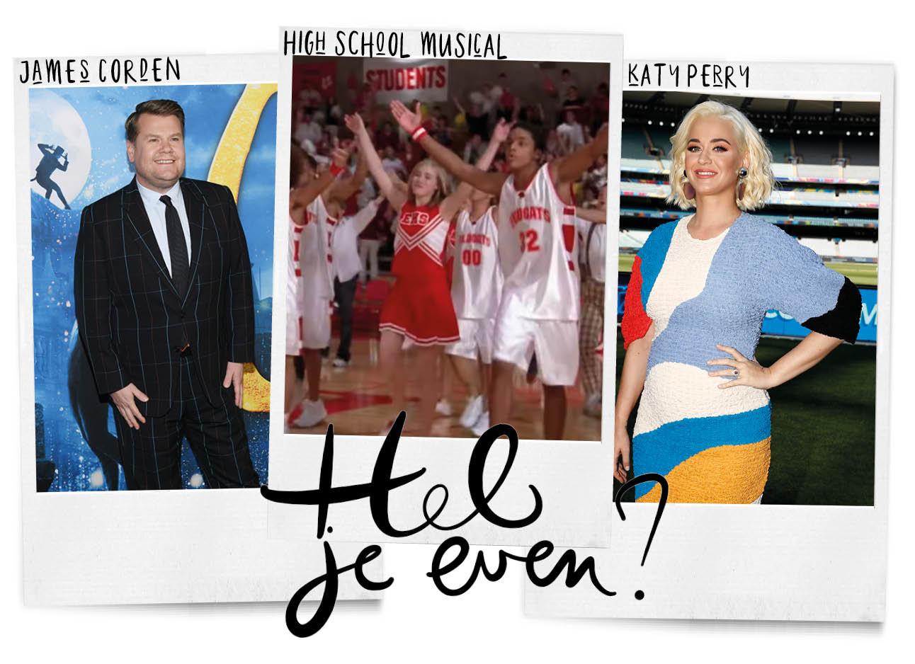 Koffiezetpraatjes Katy Perry, High school Musical en James Corden
