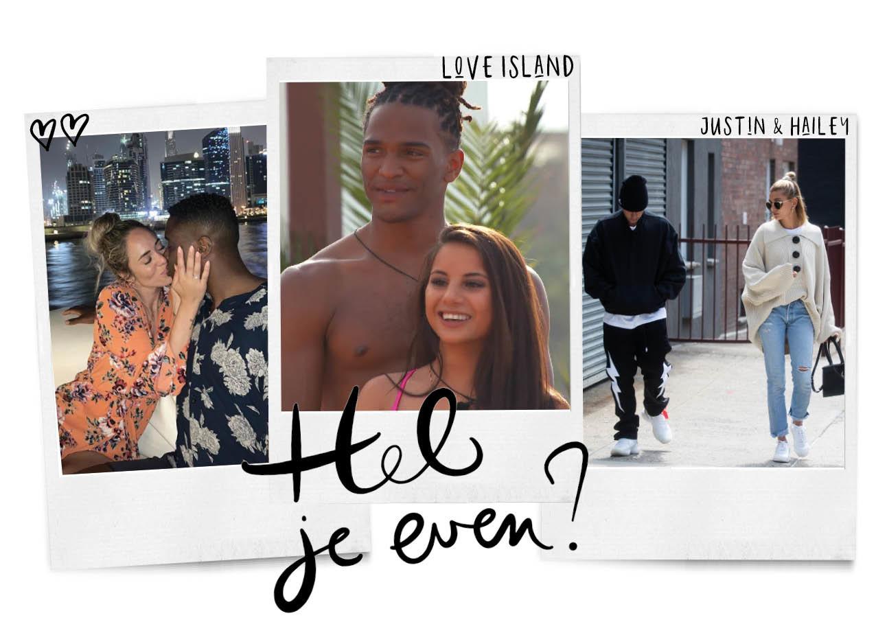 koffiezetpraatjes, nienke plas en haar verloofde resley, een koppel uit love island op videoland, justien bieber en hailey lopen op straat