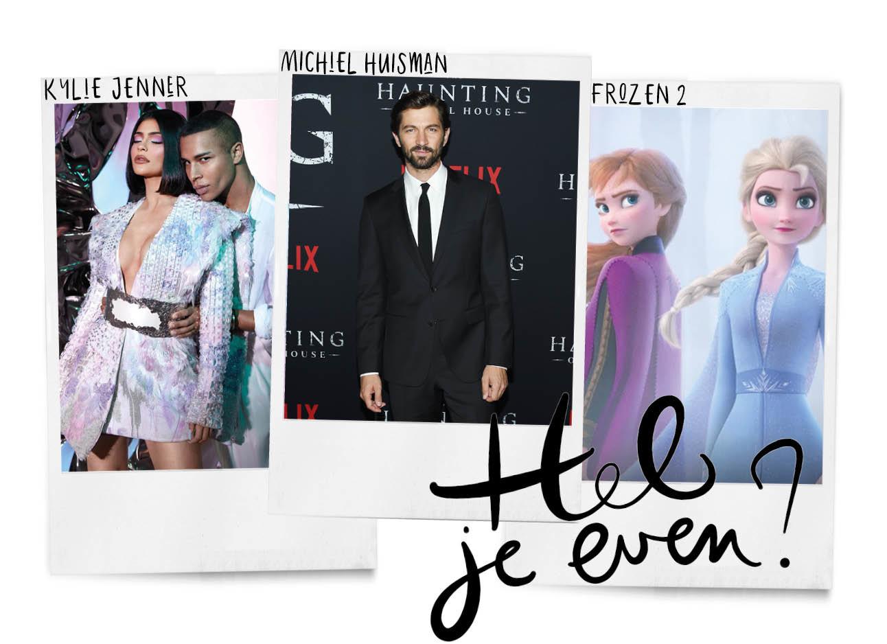 kylie jenner Balmain, Michiel huisman en frozen trailer