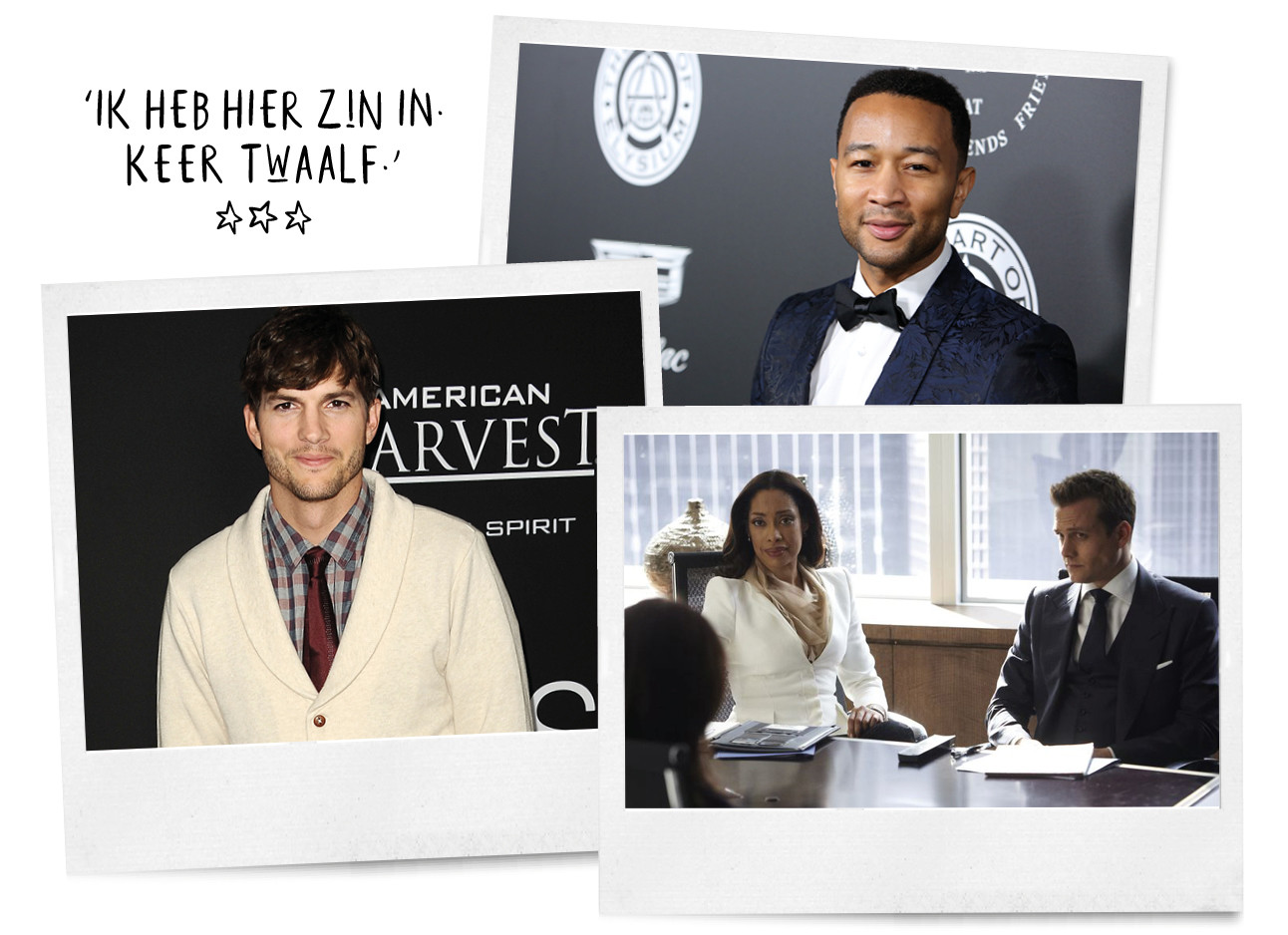 Ashton Kutcher, John Legend en Suits