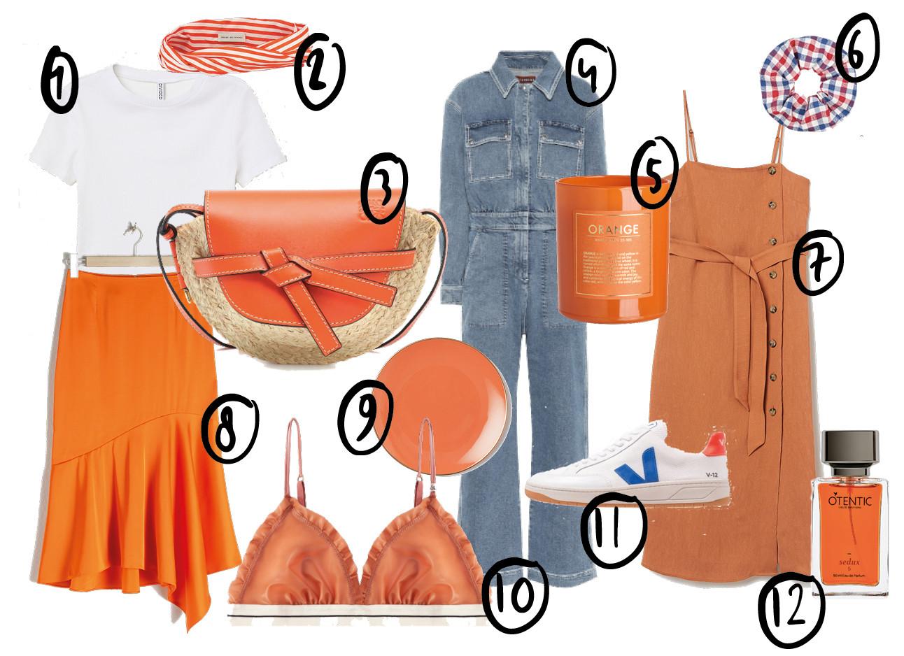 shopping met oranje spullen, koningsdag inspiratie