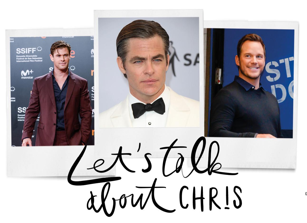 chris pratt, chris pine, chris hemsworth polaroids