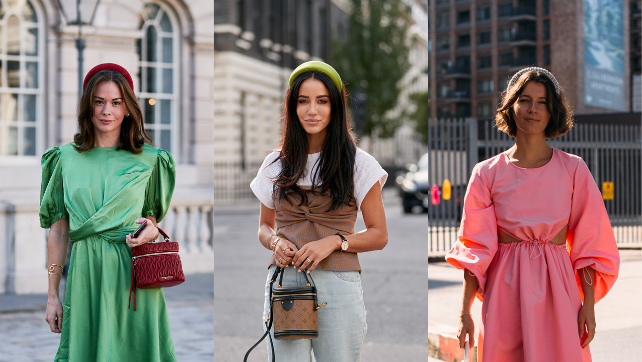 Beelden van London fashion week