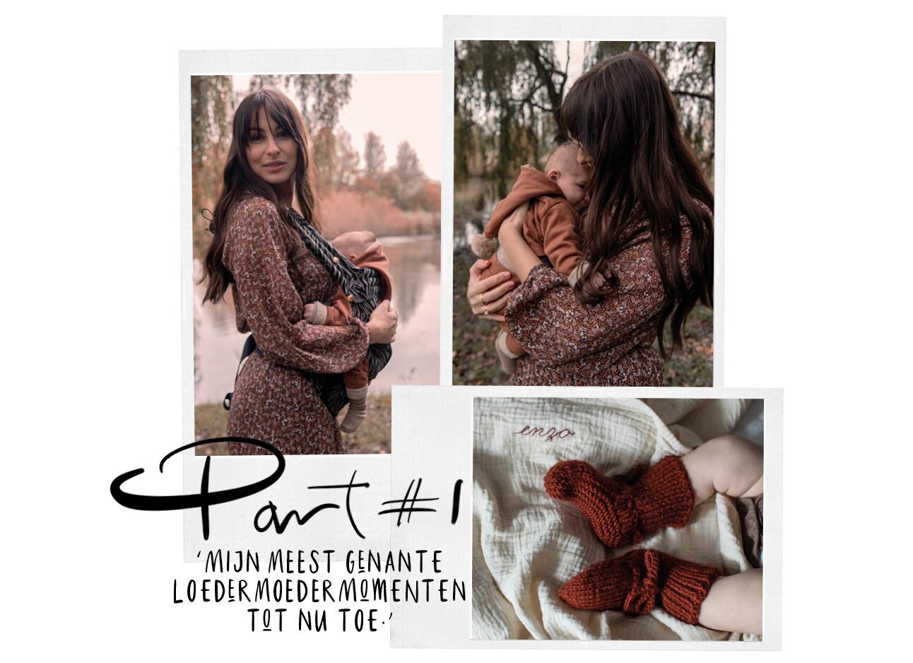 Lilian Brijl met Baby Enzo