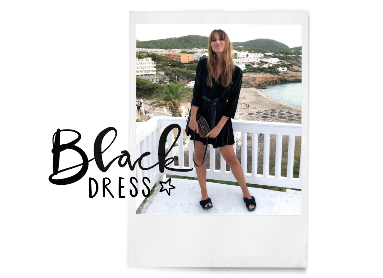 Lilian in een zwarte jurk