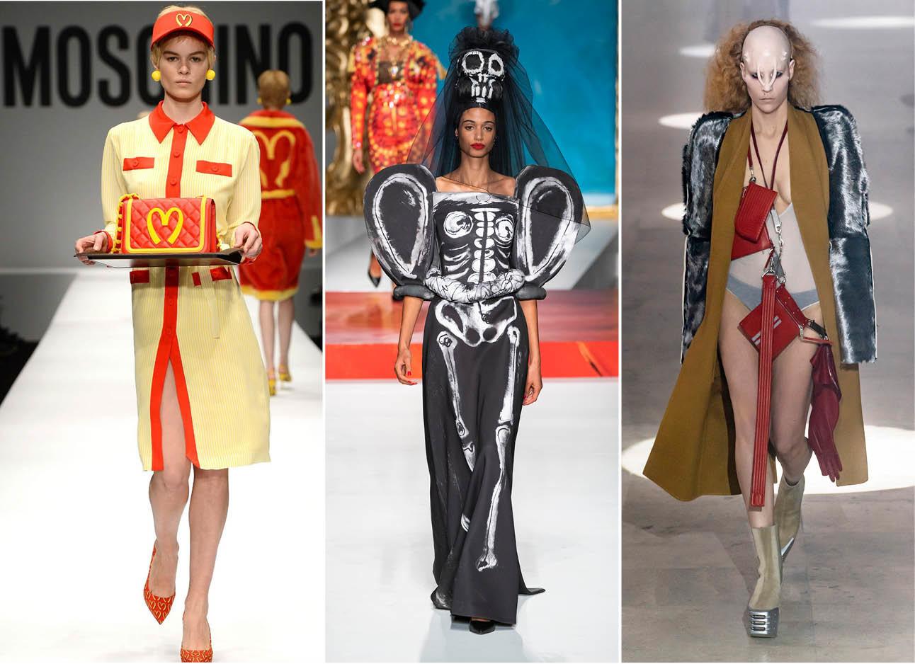 beelden van modeshows in de halloween sferen
