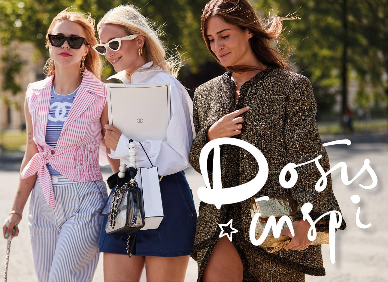 3 meiden in Parijs fashionable gekleed