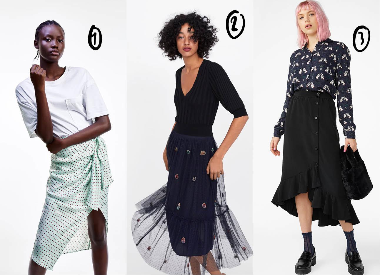 shopping midi skirts