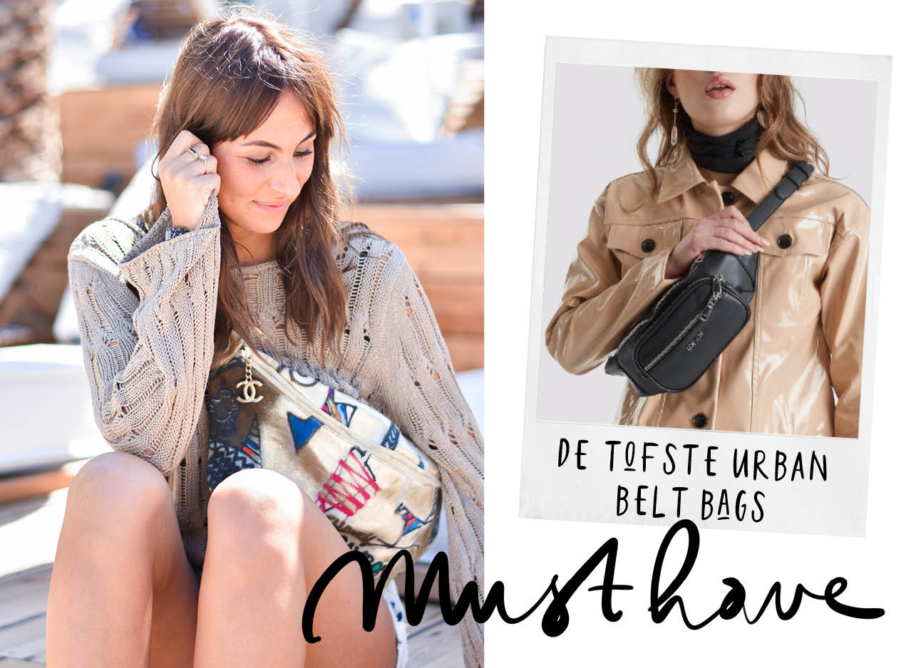 Lilian Brijl met Chanel urban belt bag
