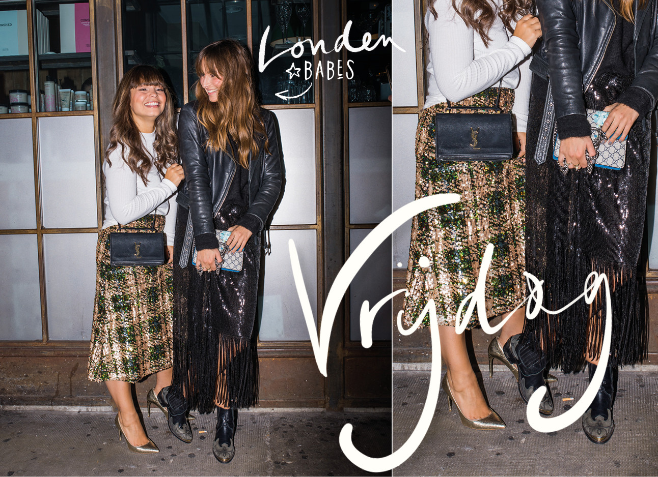 Look of the day Kiki Duren en Lilian Brijl in Shoredich London