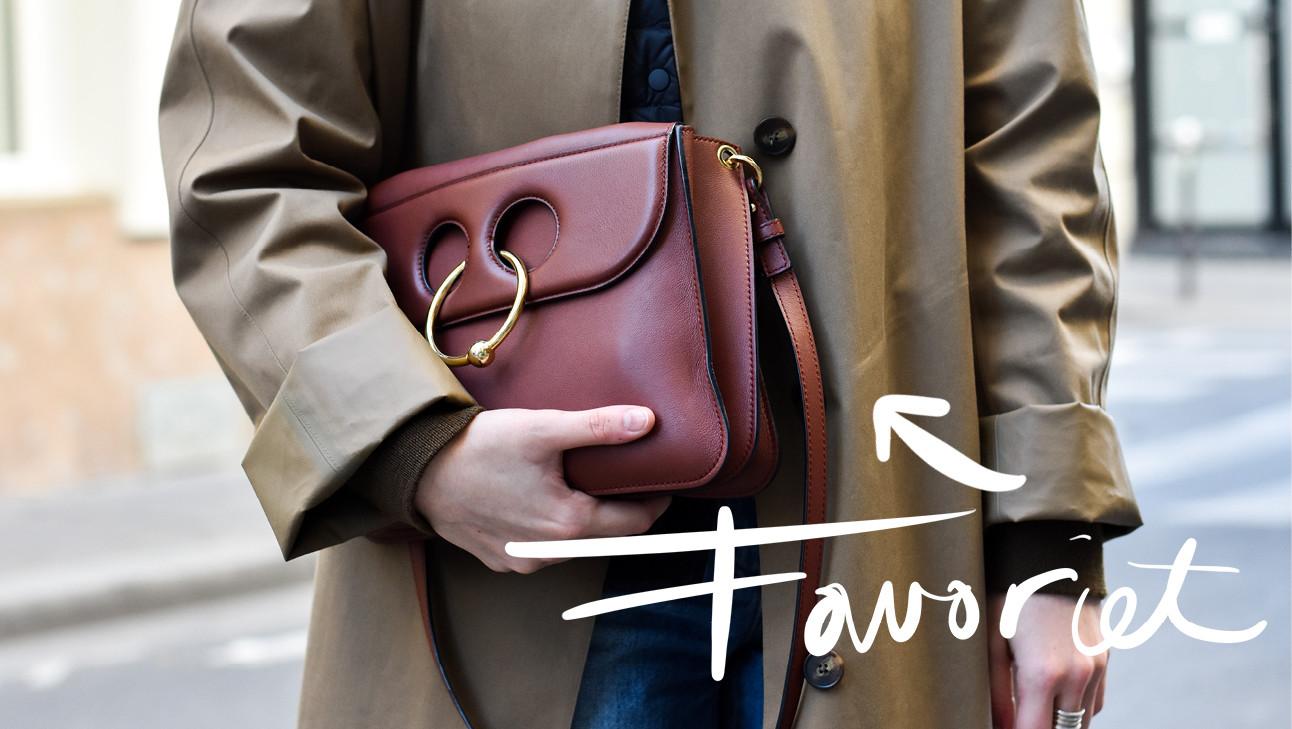 holding bag, coat, favorite