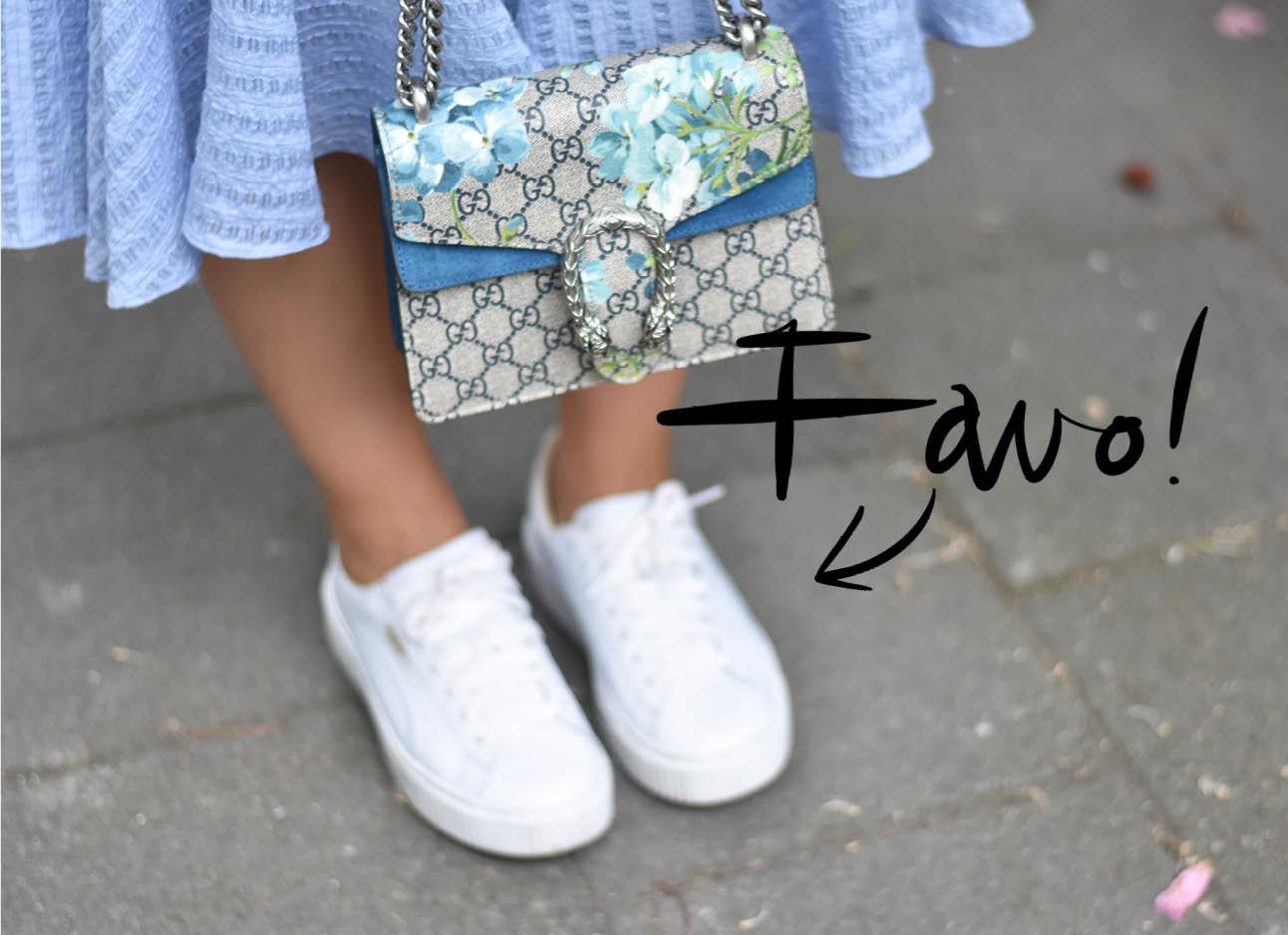 extra beeld lotd witte sneakers gucci tas