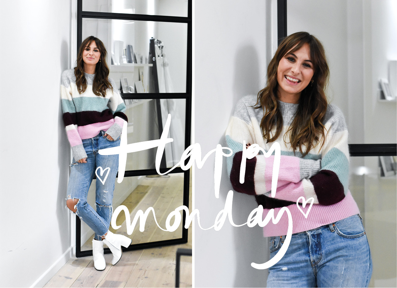 lilian in trui van H&M en jeans van zara