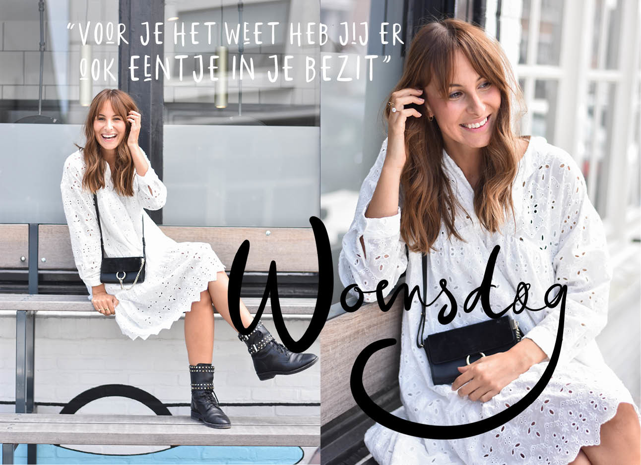 look of the day van lilian brijl witte jurk en boots