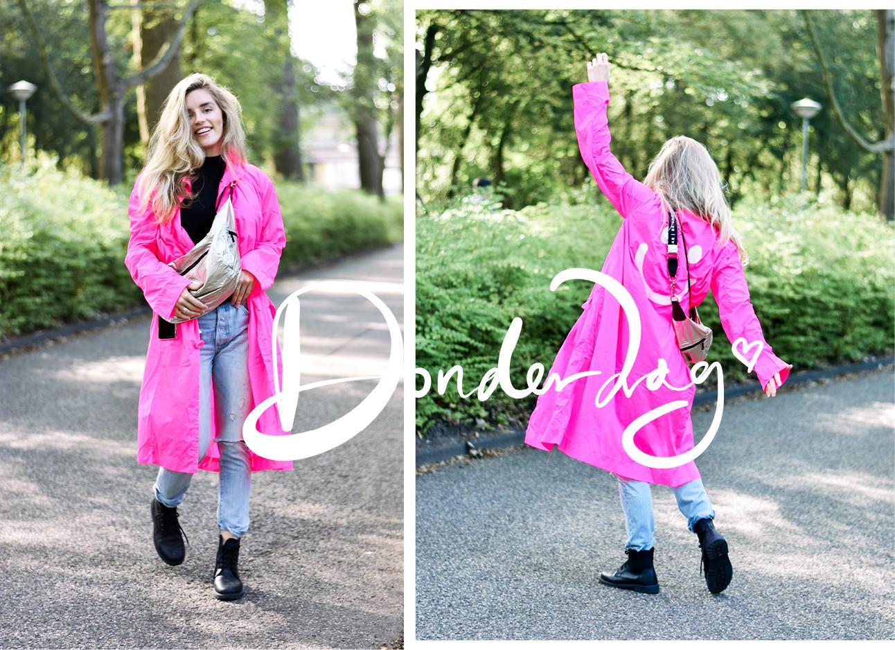 Lotte van Scherpenzeel in roze jas