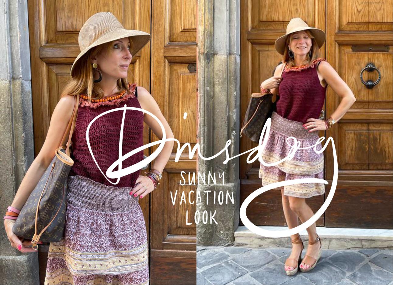 May-Britt Mobach met vakantie outfit aan