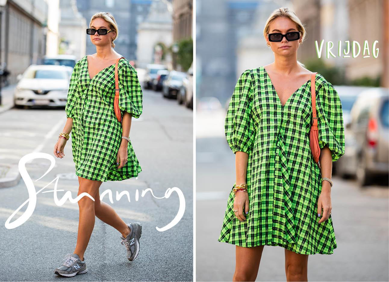 claire cliteur groene jurk