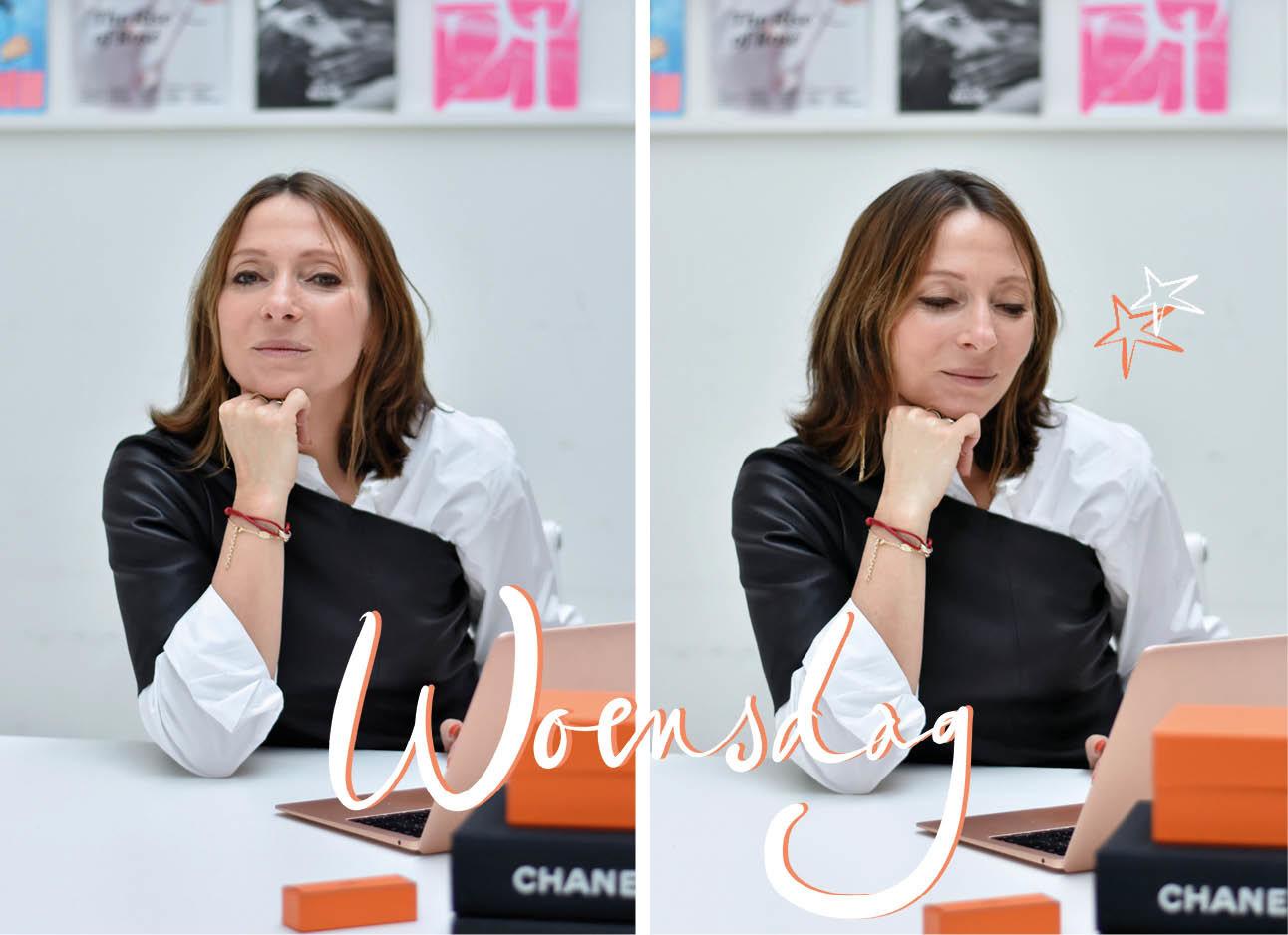May-Britt Mobach Look of the day leren top van Pauw