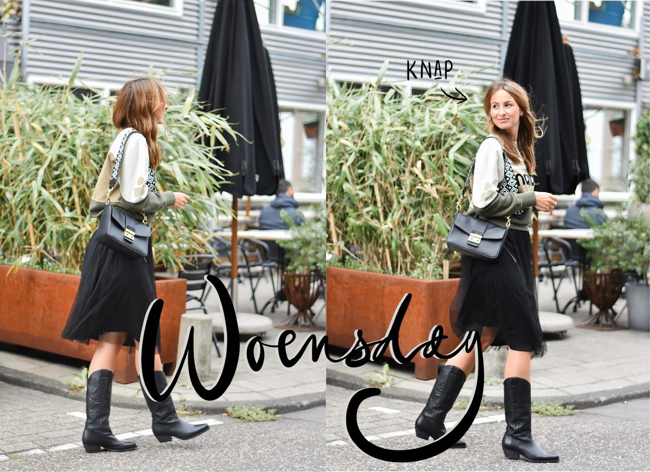 2 foto's van Lilian die haar outfit laat zien