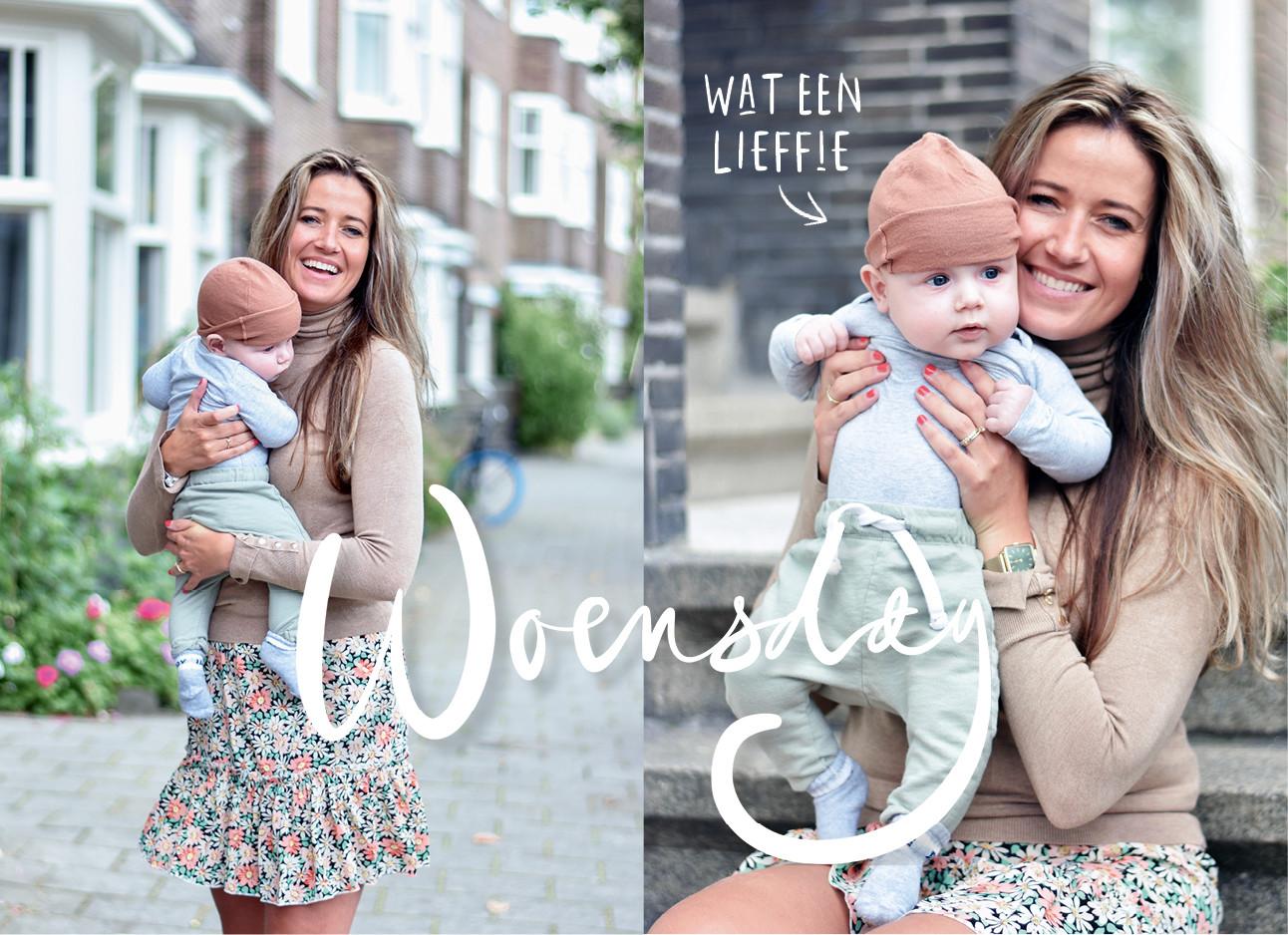 Tessa Heinhuis met baby bodi